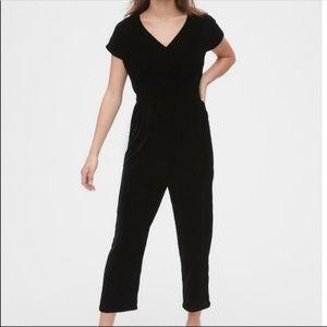GAP Black Velvet Jumpsuit